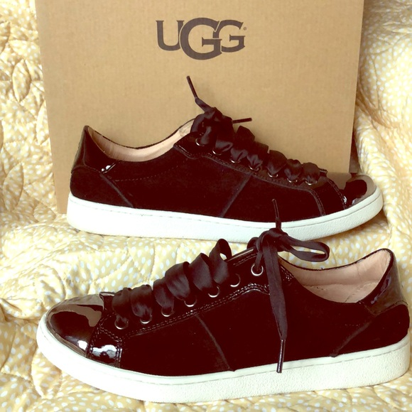 151e6001ced UGG Evangeline Suede & Leather Sneaker
